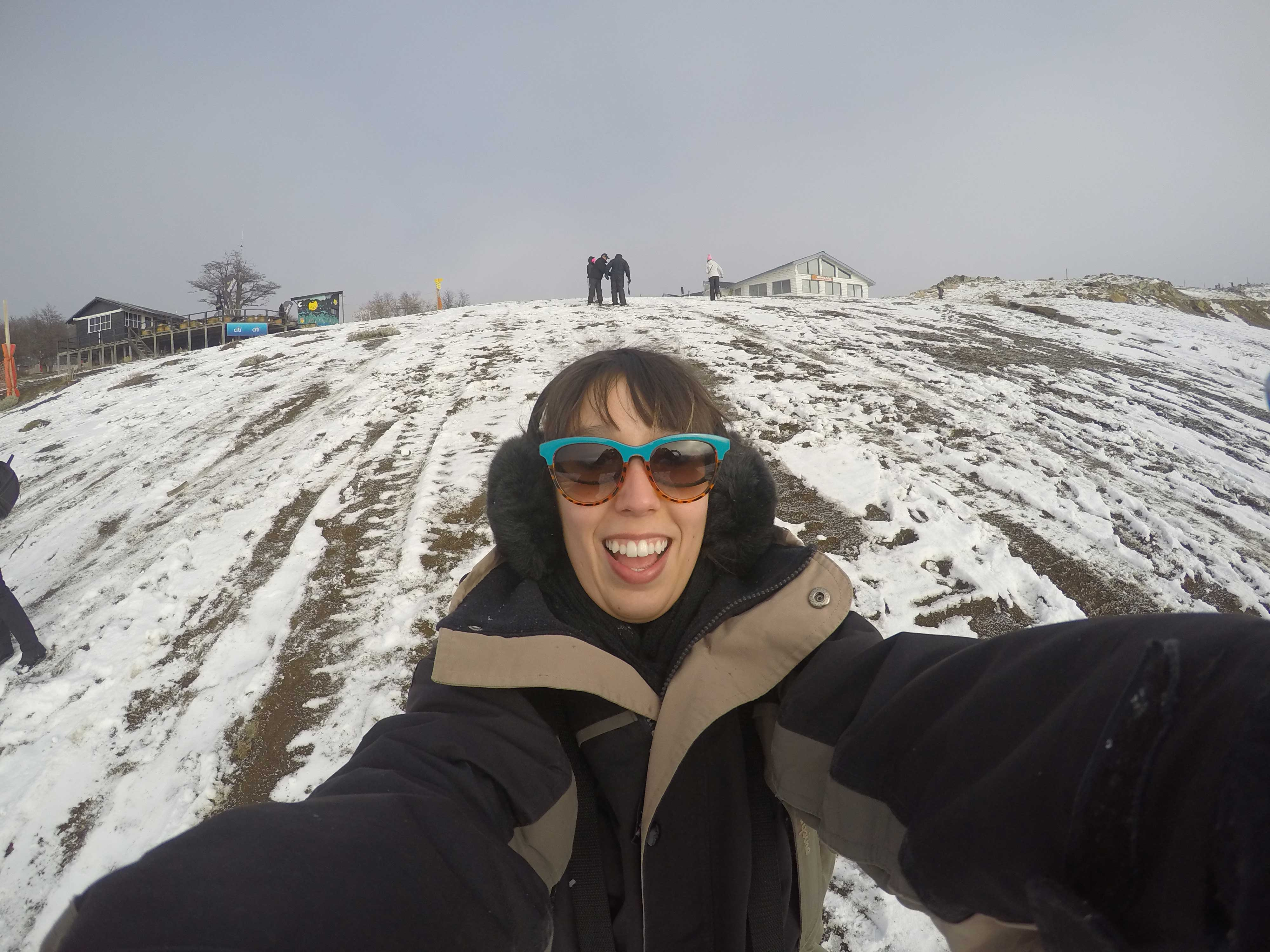 Cerro Bayo onde andei de skibunda, já com bastante neve