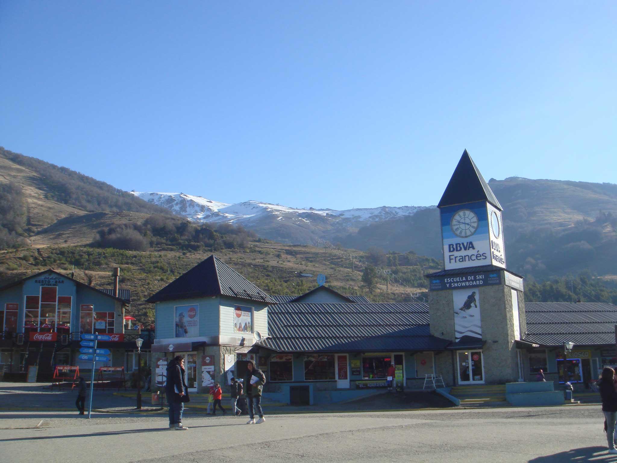 Entrada do Cerro Catedral, estação de sli e snowboard