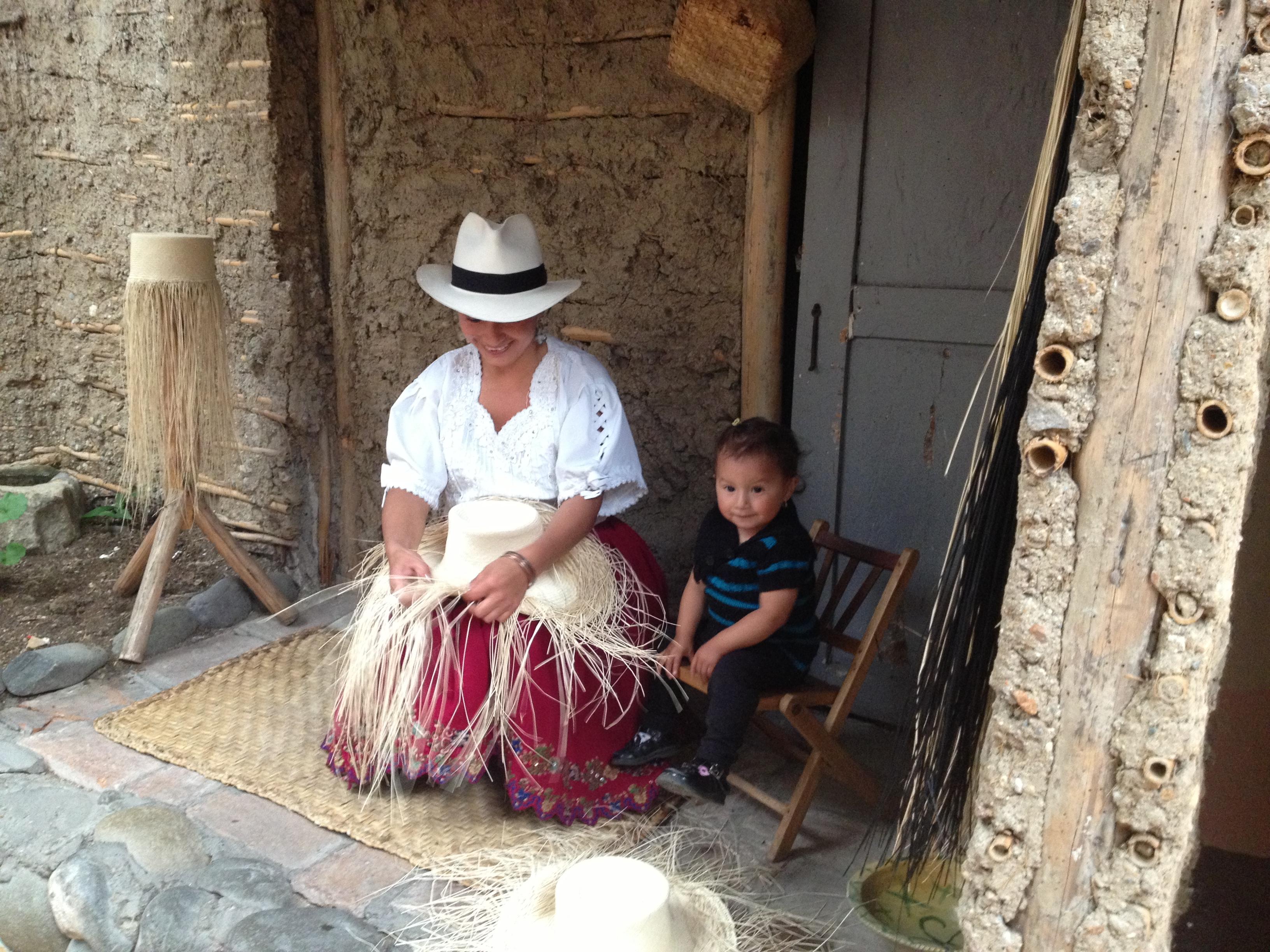 Artesão chapeus Panama