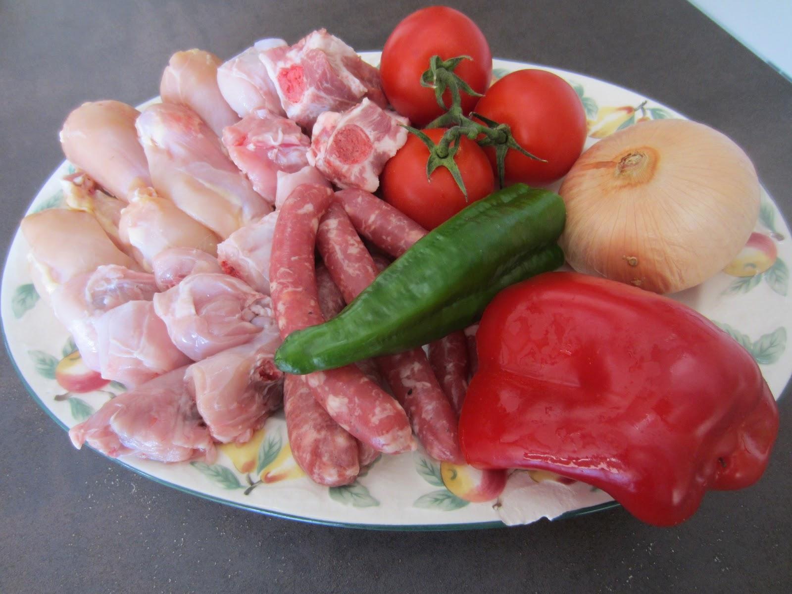 ingredientes paella montaña