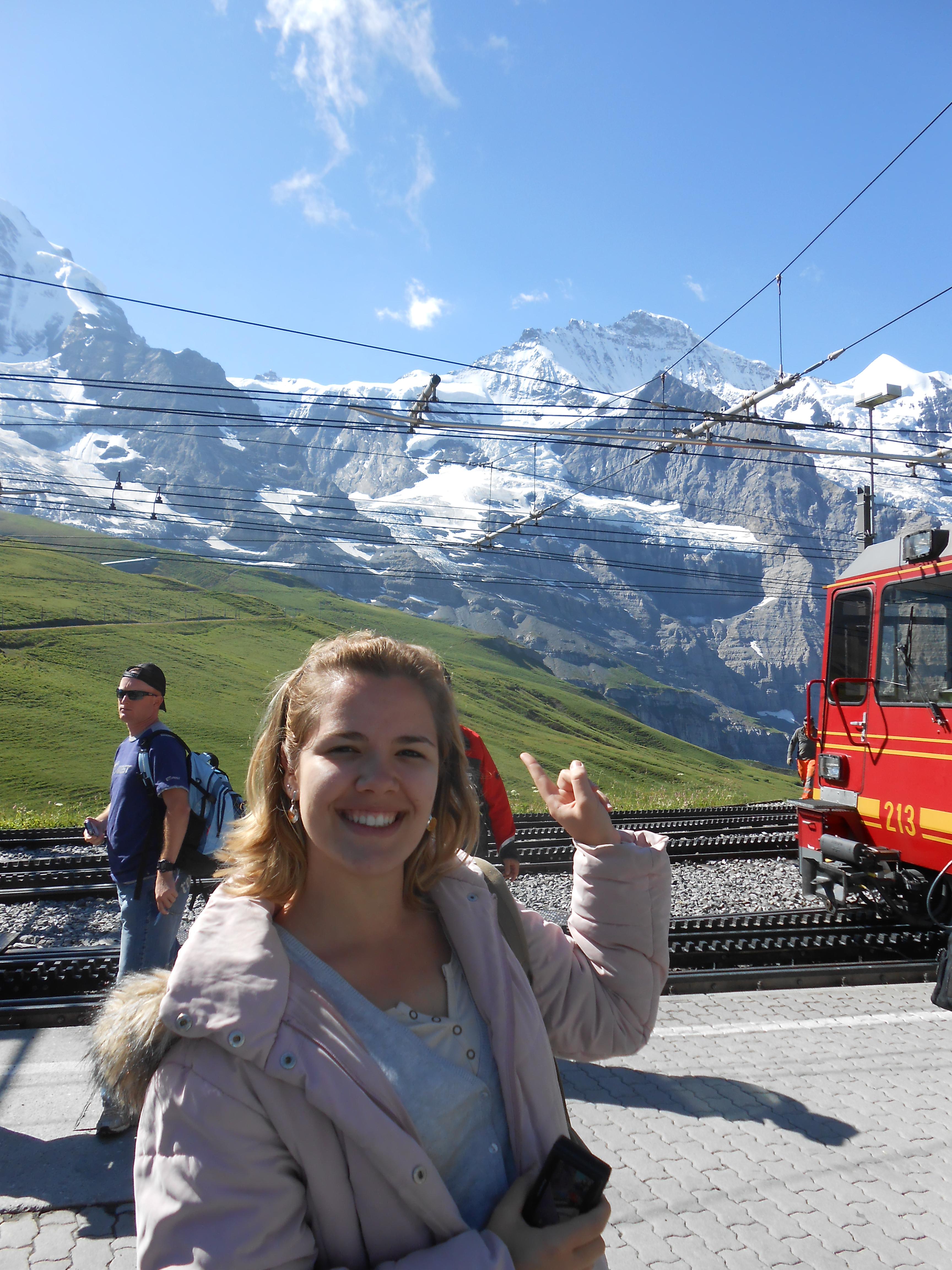 Metade do caminho na subida ao Jungfraujoch