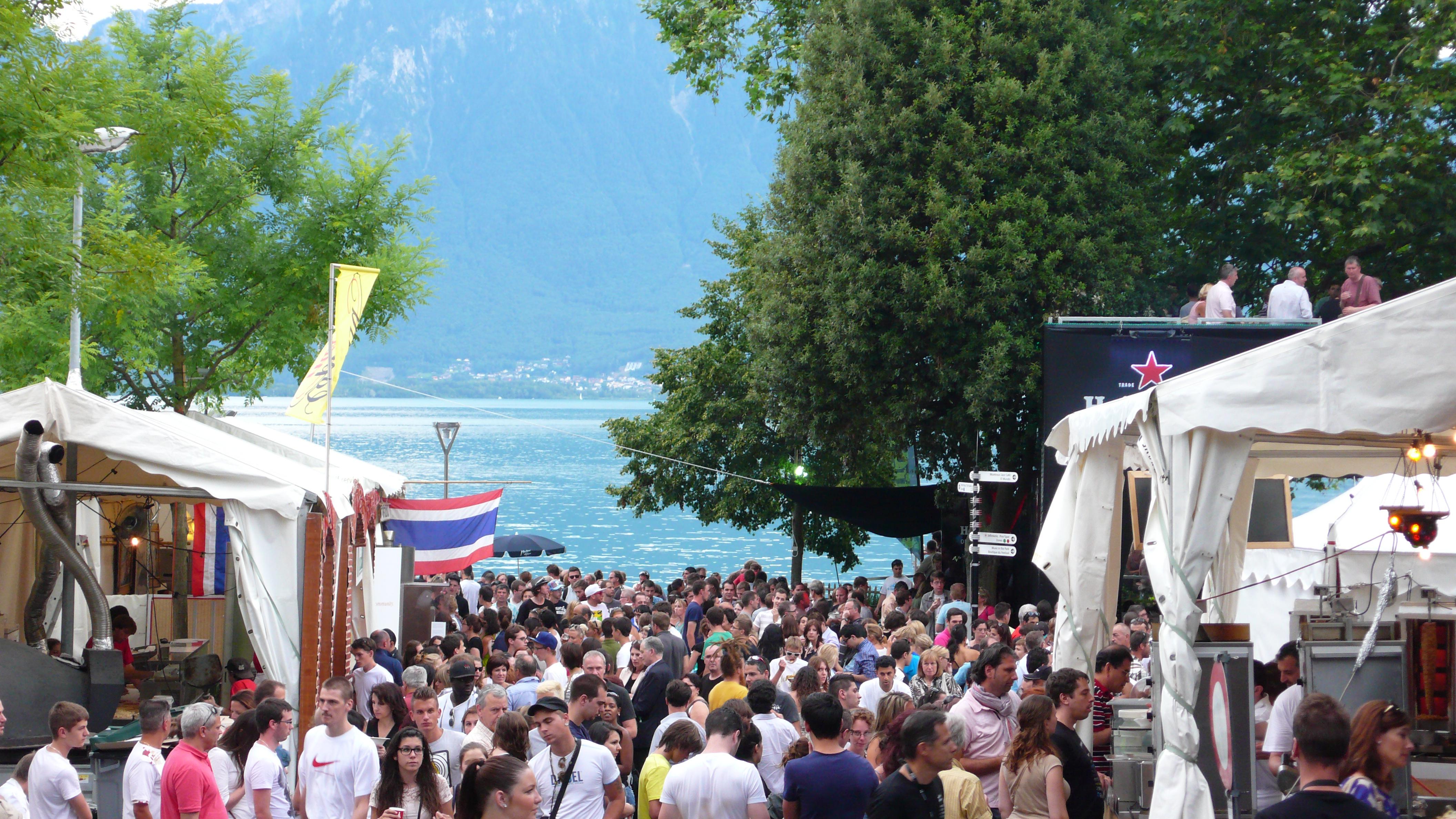 Montreux durante o Festival de Jazz da cidade