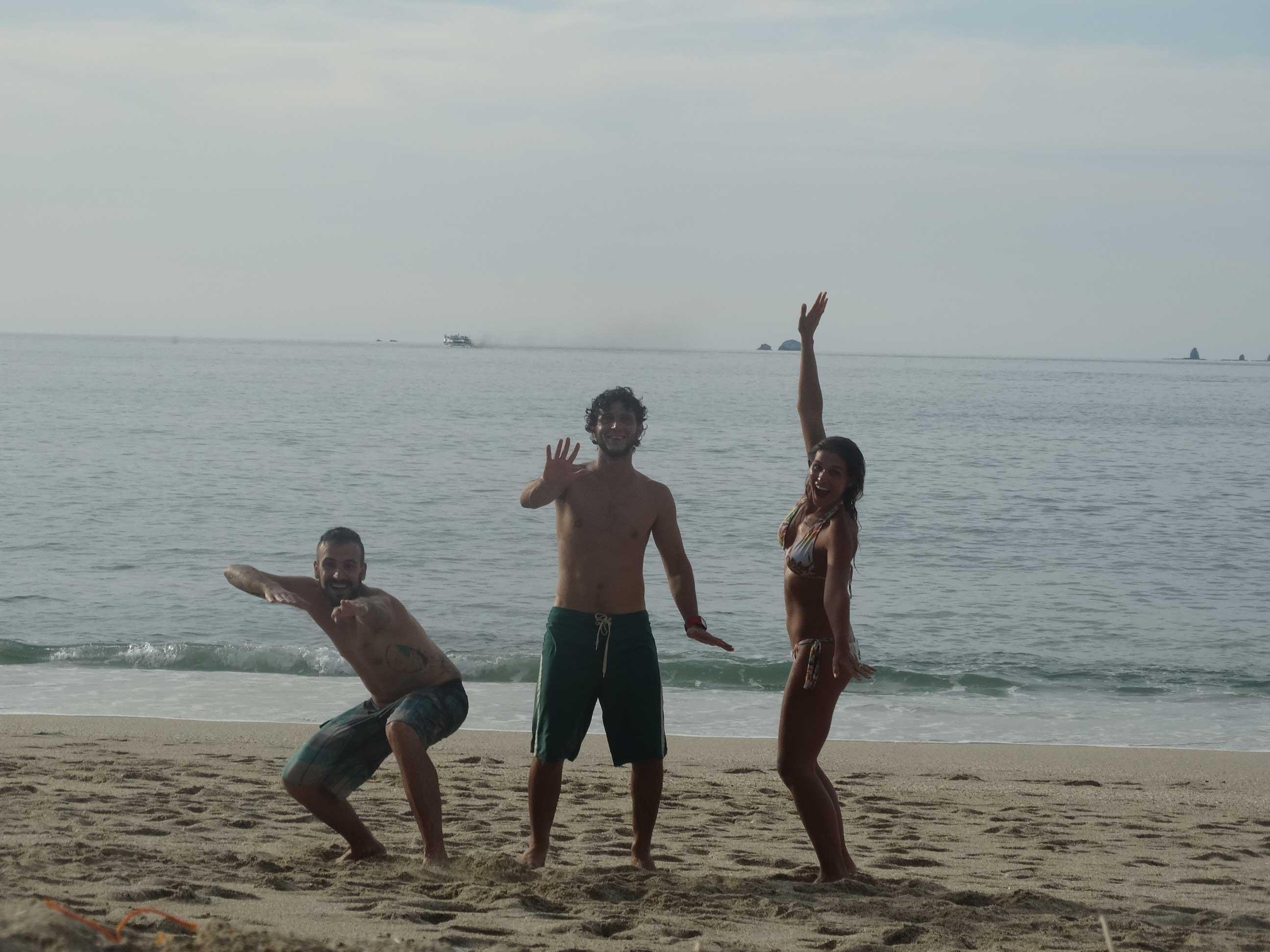 Playa Conchal com nosso cliente Carlinhos