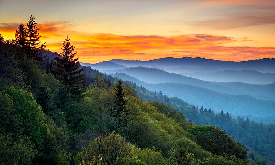 Great Skmoey Mountains/ Crédito foto: https://sasquatchchronicles.com/sighting-by-motorist-in-the-great-smoky-mountains-national-park/