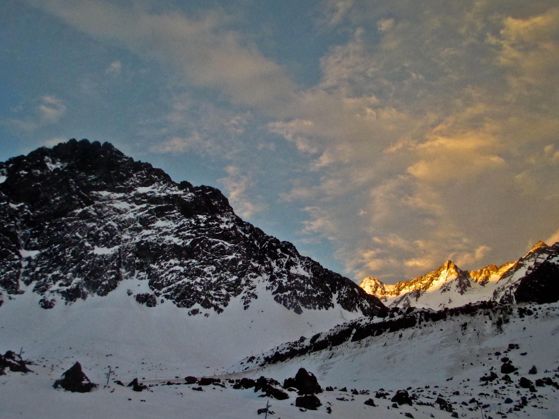 Cordilheira dos Andes na parte chilena