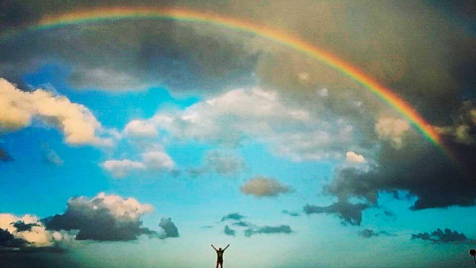 Arco-íris na Ponta da Piedade