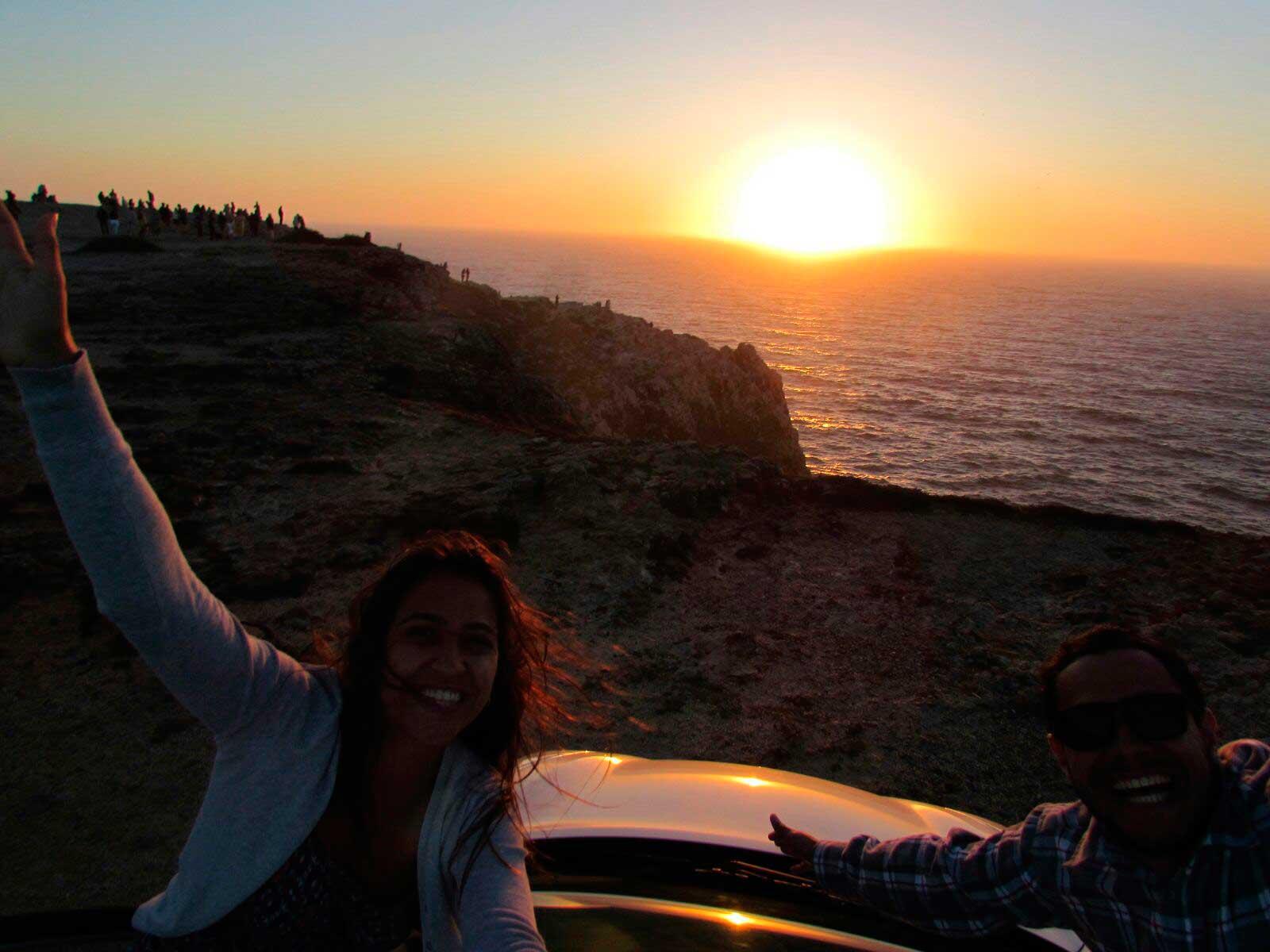 Pôr do sol em Sagres