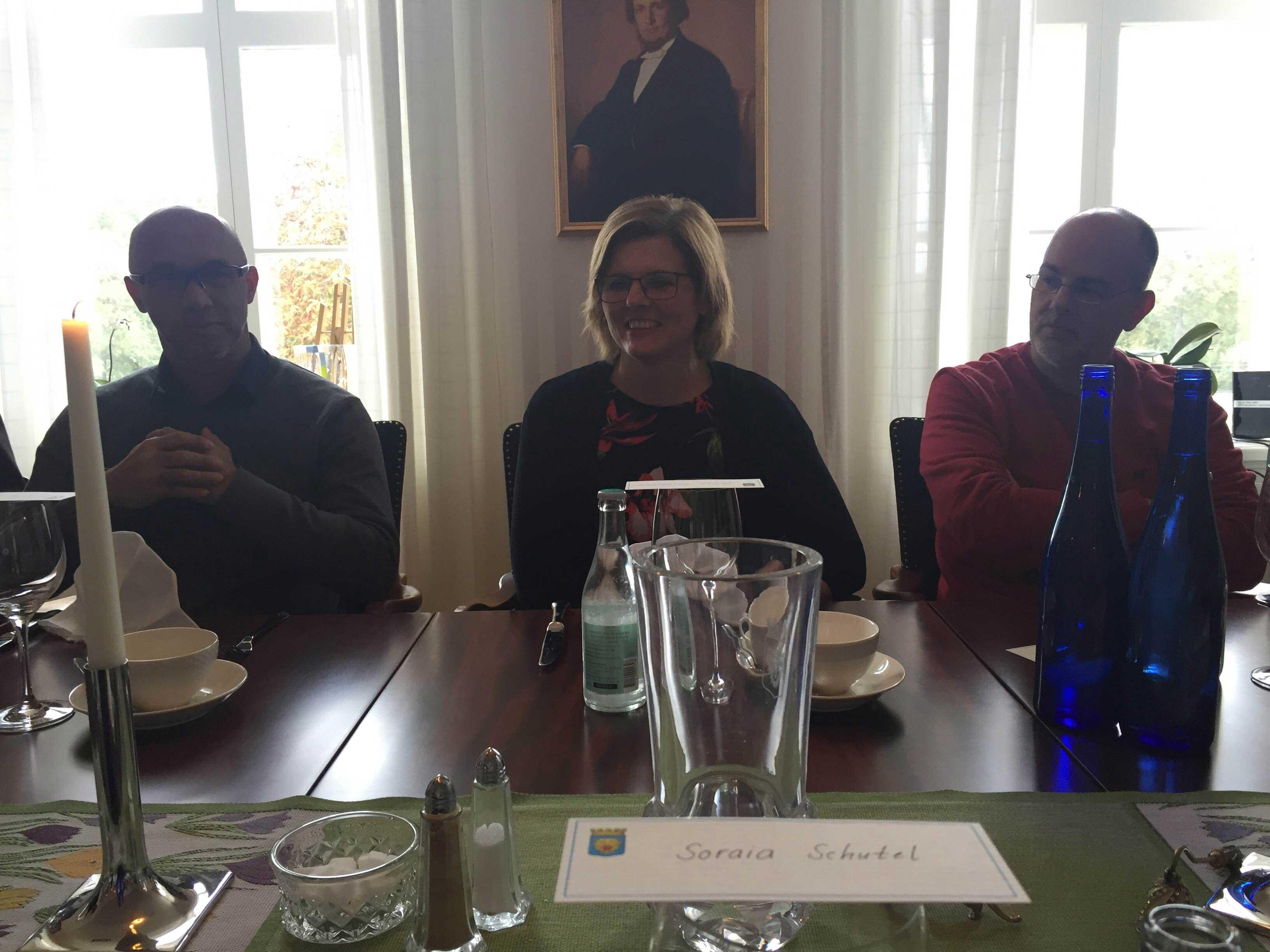 Almoço na Wallenberg Residence com a prefeita da cidade