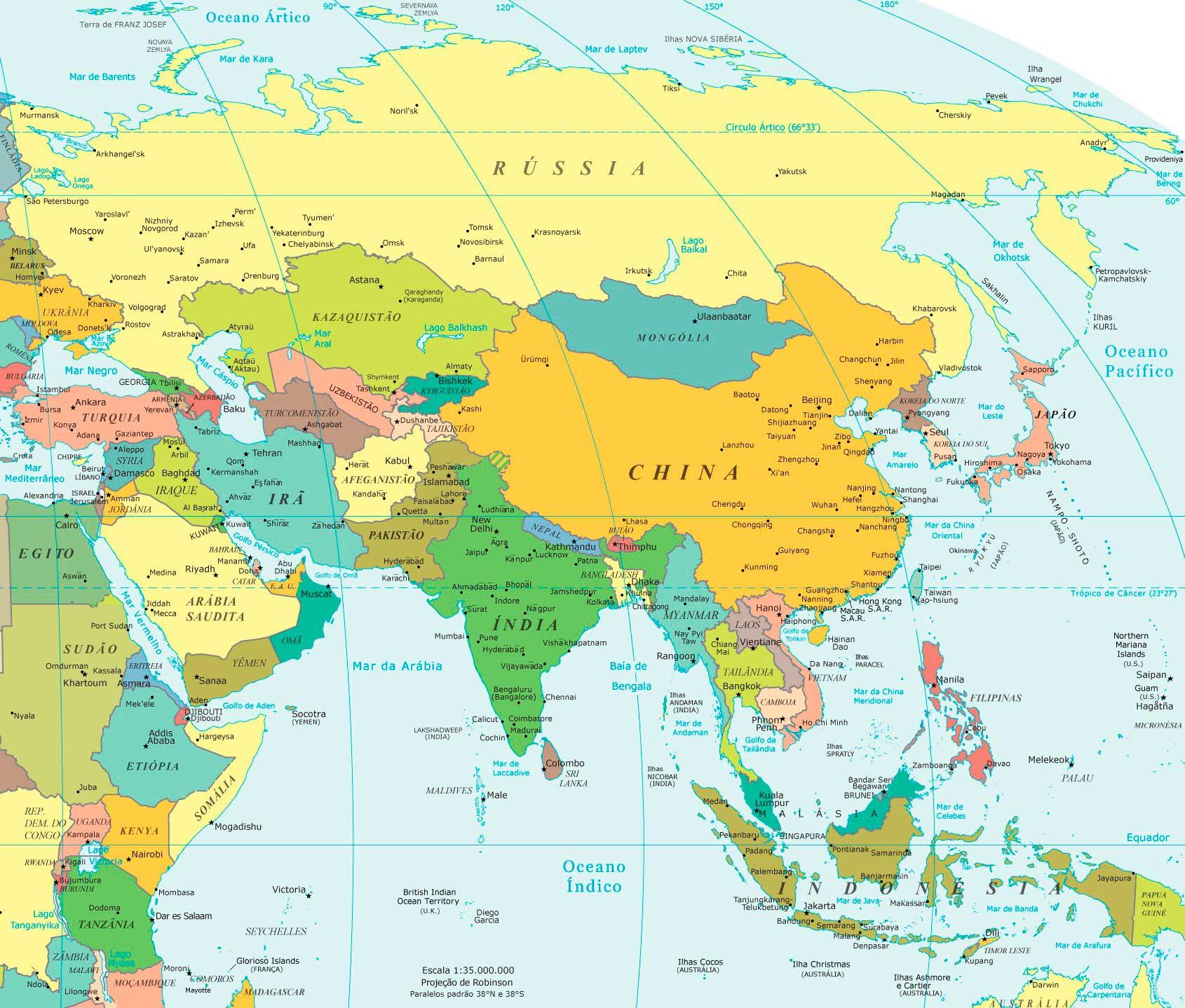 Mapa da Ásia/ Crédito foto: https://anainternationallawyer.com/2014/01/23/vietna-e-coreia-planejam-acordo-de-livre-comercio-de-us-70-bi-ao-ano/