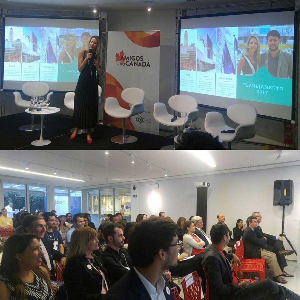 Apresentação sobre o case de empreendedorismo da Mission Abroad em evento promovido pela CCBC – Câmara de Comércio Brasil-Canada