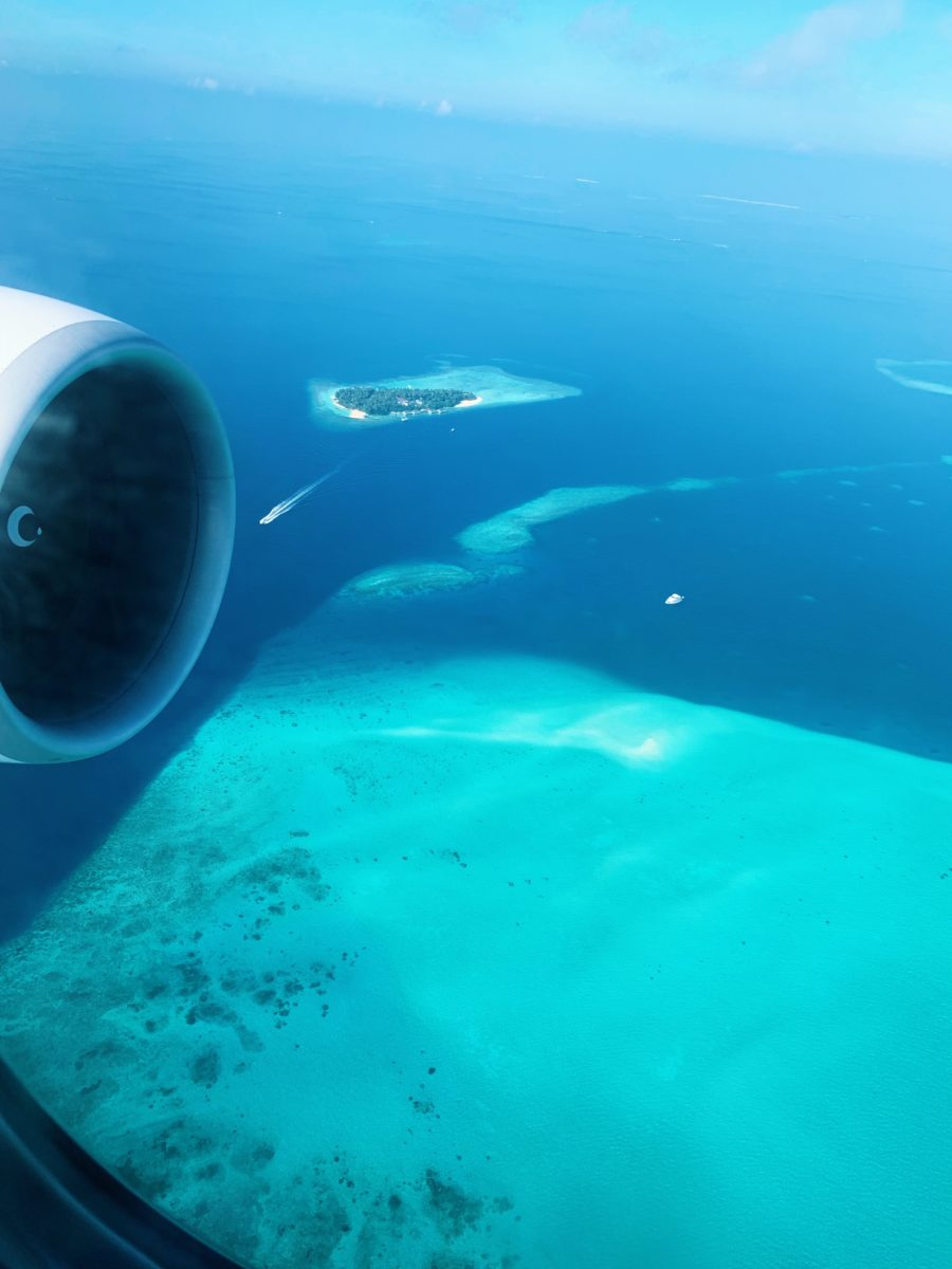 Sky view of Maldives