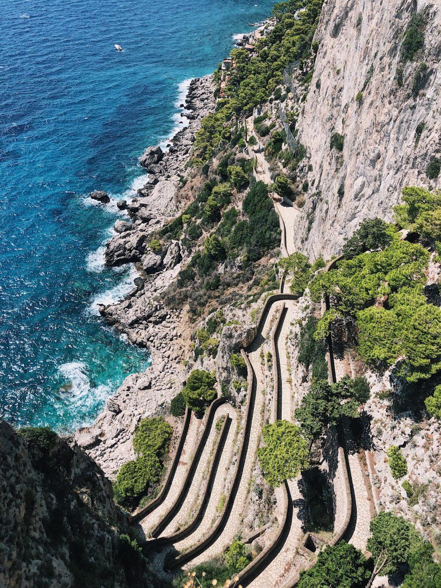 Via Krupp em Capri